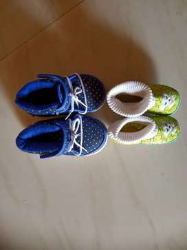 Baby shoes for below 1 year baby - 2 sets