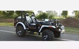 Open black modified jeep