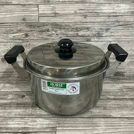 Double Handle Pot Horse Brand 26cm