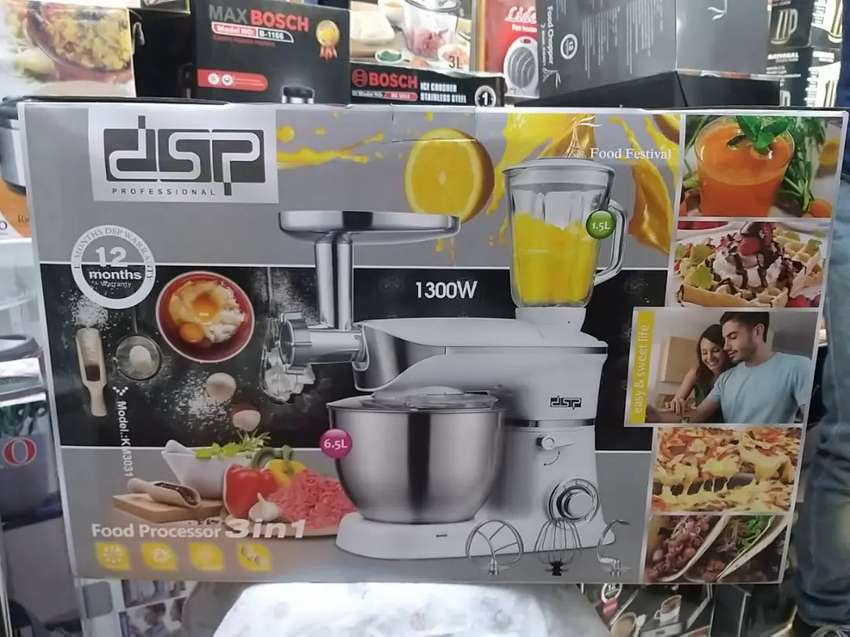 Professional German Dough Kneading Machine With 3 Tools
