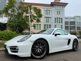 Porsche Cayman 2.7 PDK 981 Coupe 2014 White On Red Km10rb Full Option