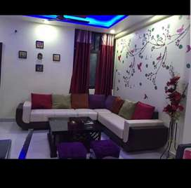 2BHK flat with 2 bathrooms, balcony, parking
