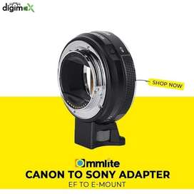 Sony to Canon adopter Commlite E mount to Efs