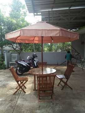 Meja payung taman, pantai,kolam, tempat wisata, halaman, kantin