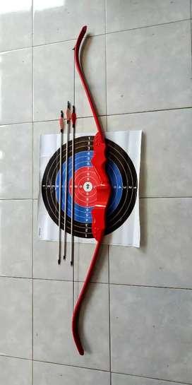 Busur panah dewasa merah riser 50 cm