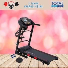 Alat fitness treadmill elektrik TL 138 treadmil TOTAL COD Sidoarjo