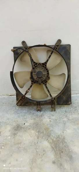 Coure fan condenser cooling