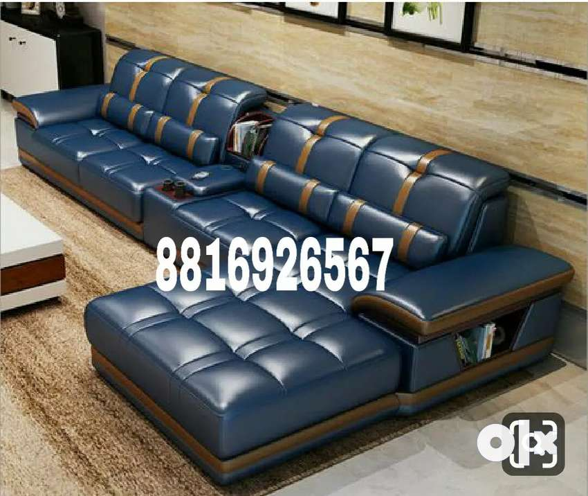 L shape new look sofa 0