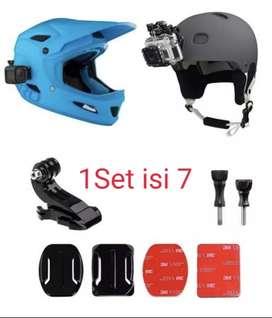 Grosir Set Helmet mount dudukan helm gopro xiaomi yi bpro action cam