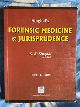 Forensic medicine and jurisprudence Mbbs book for sale.