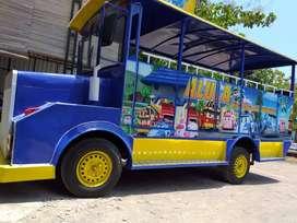 kereta wisata odong 2 mobil sepur mini desain menarik DO