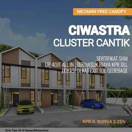 Rumah 2Lantai Mezanin di Cluster Ekslusif CIWASTRA BANDUNG