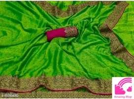 Saree green color