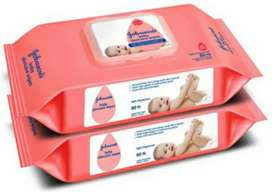 Johnson Baby Wipes 64 wipes