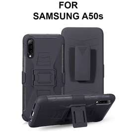 Future armor case Samsung A50s softcase casing hp back cover belt clip