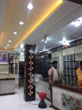 Salesmen in garments shop