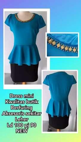Dress wanita import kwalitas butik murah