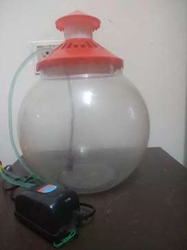 Fish bowl excellent condition with pump and cover