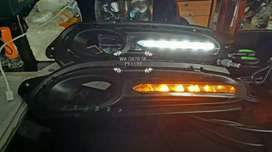 BwX. COVER foglamp/fog lamp lampu LED DRL bemper depan hrv
