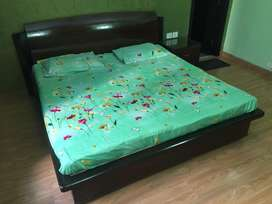 Double Bed with mattresses and Dressin table & side table