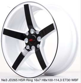 forum motif NE3 JD265 HSR R16X7 H8X100-114,3 ET30 WHITE/BLACK FACE