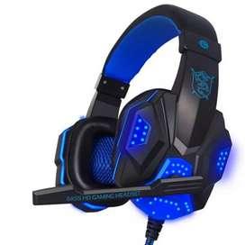 NDJU Gaming Headphone LED Deep Bass with Mic