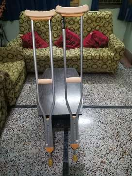 2 months old crutches selling at 2000