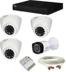 3 cctv bullet and 1 dome HD camera setup-
