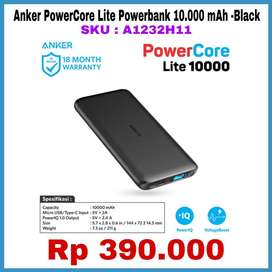 Anker Powercore Lite Powerbank 10.000 mah USB ORIGINAL BEST !!