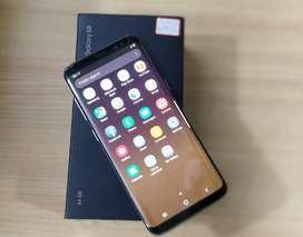 Samsung S8 Plus with bill box and all accessories