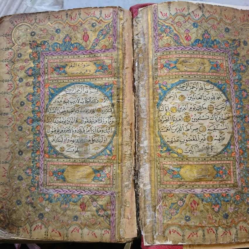 Al Qur'an Tulisan Tangan Asli Turki Ottoman abad 18 akhir