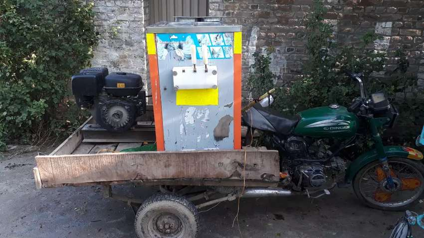 Cone ice creem machin with janirator for sell 0