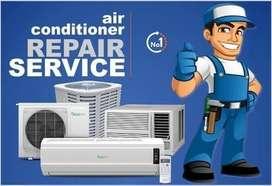 AC technician and helper