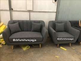 sofa scandinavian 2 1 , warna mix