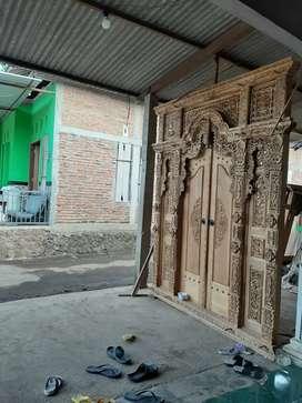 pintu gebyok kayu jati langsung pengrajin