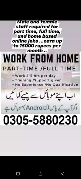 Part time full time and home base jobs