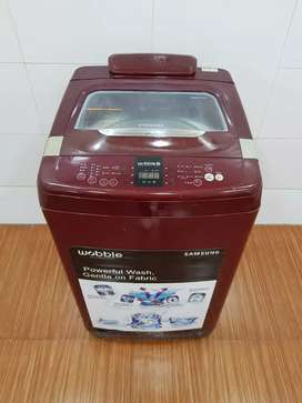 Samsung red top load wobble technology 6.5 kg washing machine