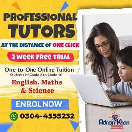 Best Online Tuition for Grade 2 to 'O' Level Students