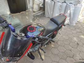 A Modified bajaj pulsor customised for speed and performance