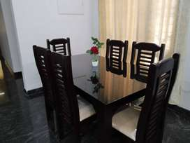 NEW WOODEN DINING TABLE SET. 4 SEATER. CALL NOW.