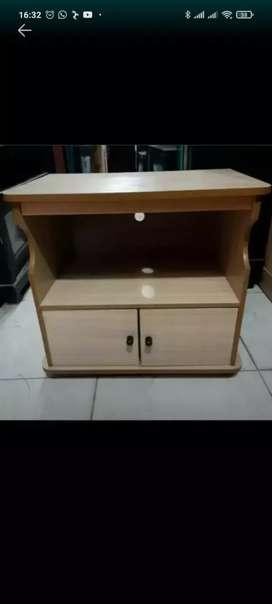 Meja tv mini pintu panel untuk maximal 21 inc tabung