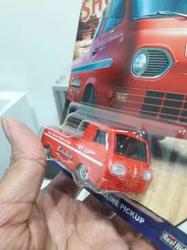 Hotwheels hot wheels '60s ford econoline pickup red ban karet