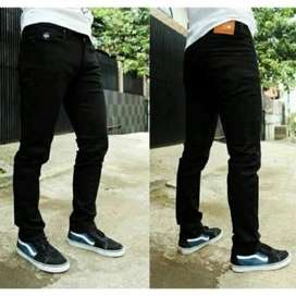 Celana jeans hitam pria denim