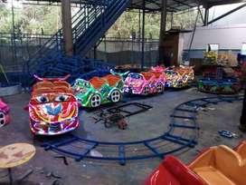 Full sett Wahana Kereta mini Coaster Roller Coaster Odong rel lantai