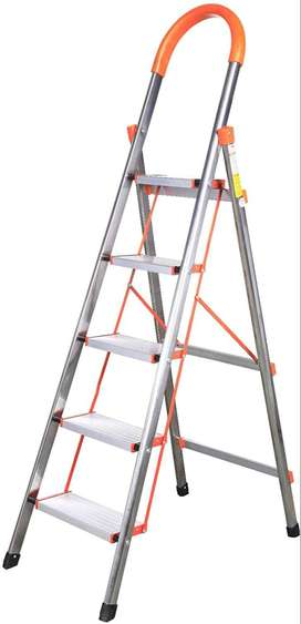 5 Step Stainless Steel Household Ladder