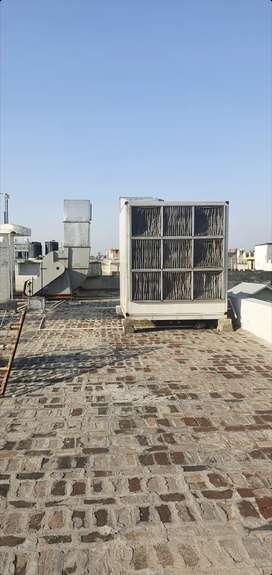 HVAC exhaust and fresh air unit