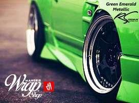 Green SuperGloss Series Sticker Mobil Premium Awet Aman Mangele Bdg