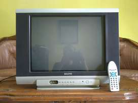 TV SANYO 21 in Flat, Original, murah, di Cijantung