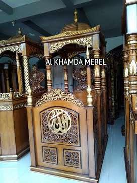 Ready Mimbar Masjid Material Kayu Jati Berkualitas #350