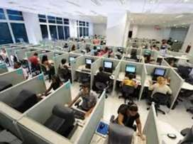Job in call centre for boys and girls.